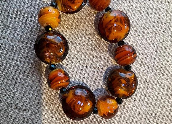 Glass Bead Stretch Bracelet.