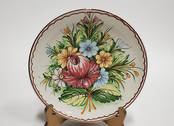 Castelli Ceramic Floral Hand Painted Plate