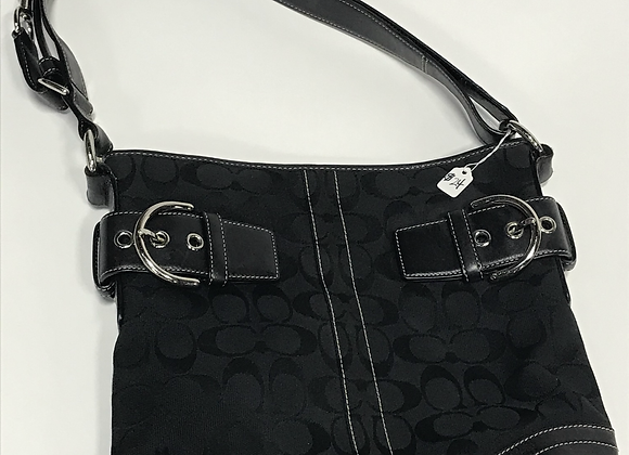 Coach Black & Leather Logo Handbag