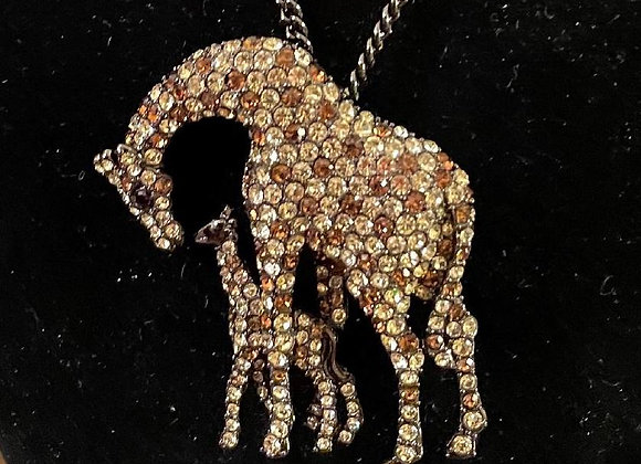 Mother and Baby Giraffe Pendant