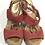 Thumbnail: Coach Coral & Tan Sandal Size 8 1/2