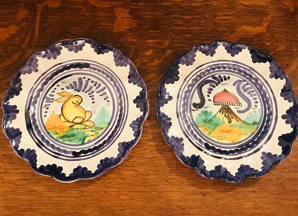 Pair of Vintage Italianate Plates