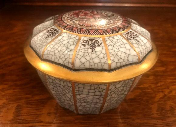 Dahl Jensen Crackle Lidded Jar