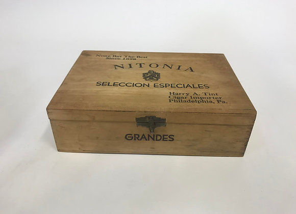 Wooden Cigar Box (Nitonia)