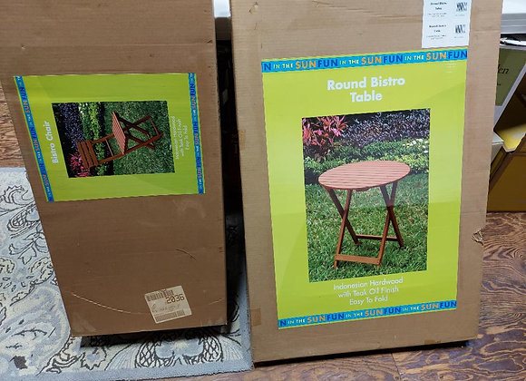 Hardwood Bistro Table and Chair