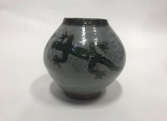 Ceramic Lizard Jar