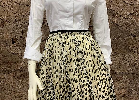 DKNY 100% Silk Spotted Skirt
