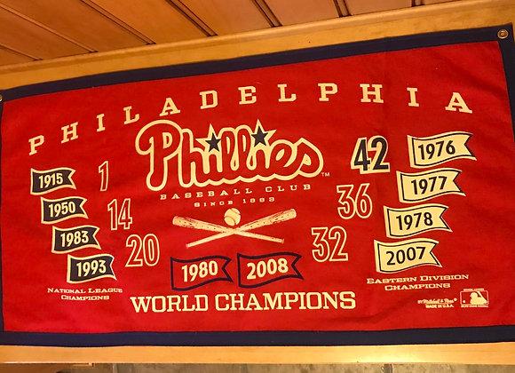 Philadelphia Phillies World Champions Felt Banner