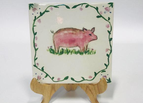 Ceramic Pig Tile