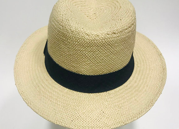 Straw Hat with Black Band