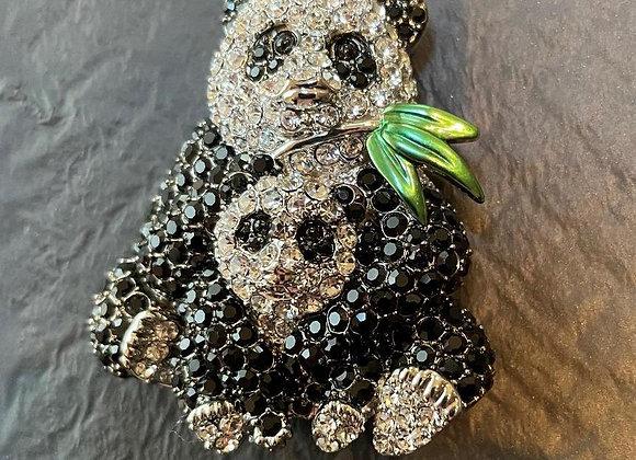 Mother and Baby Panda Pin