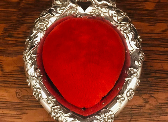 Sterling Silver Heart Shaped Pin Cushion
