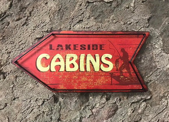 Lakeside Cabins Sign
