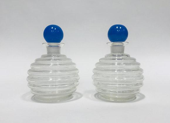 Vintage ClearGlass Beehive Jars