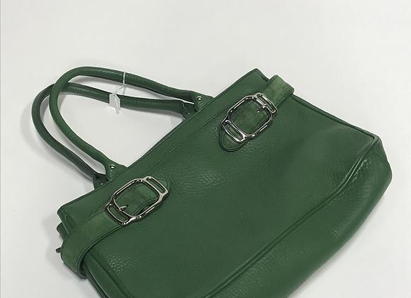 Cole Haan Green Leather & Suede Handbag