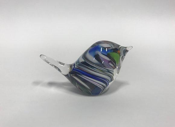Small Glass Bird Paperweight
