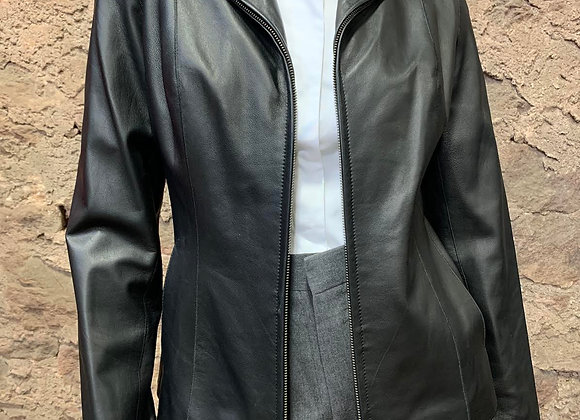 Cole Haan Classic Black Leather Jacket