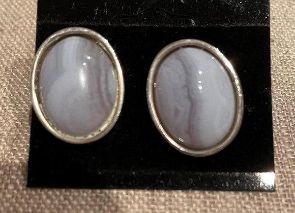 Quartz and Sterling Silver Pierced Earrings