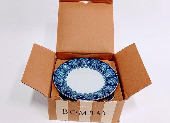 Set of 6 Bombay Dessert Plates (Tile Pattern)