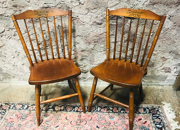 Pair of Hitchcock Maple Windsor Side Chairs