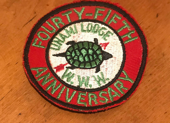 Vintage Boy Scout Patch Unami Lodge 45th Anniversary