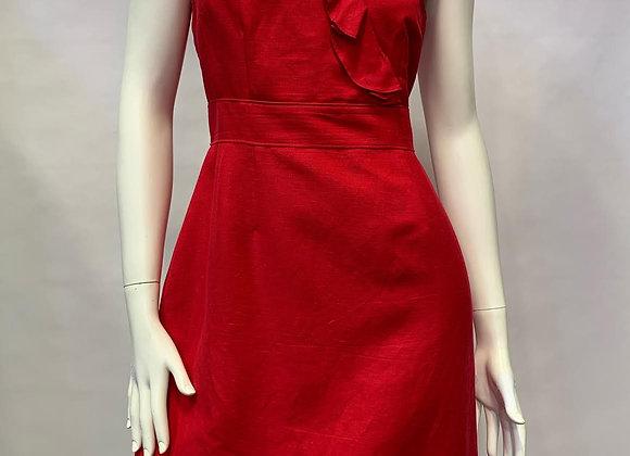 Tahari Red Linen Dress
