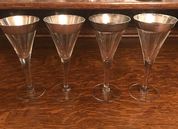 Four Dorothy Thorpe Water Glasses