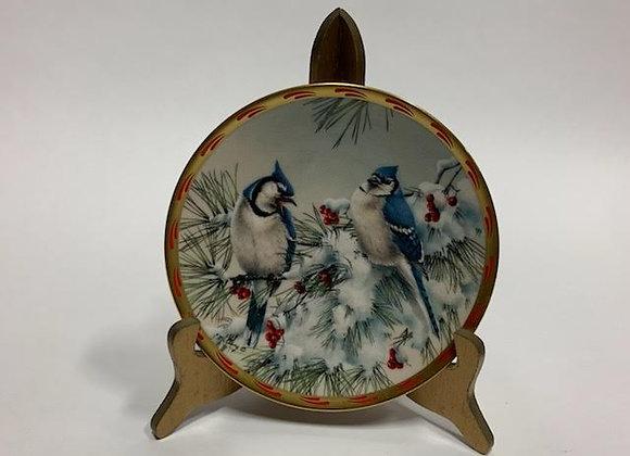 Lenox Winter Song Blue Jay Plate 1993