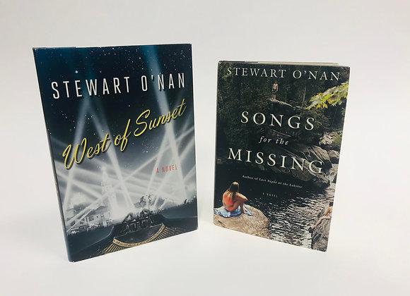 Two Stewart O'Nan novels (hardback)