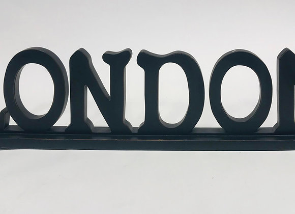 Wooden LONDON Sign