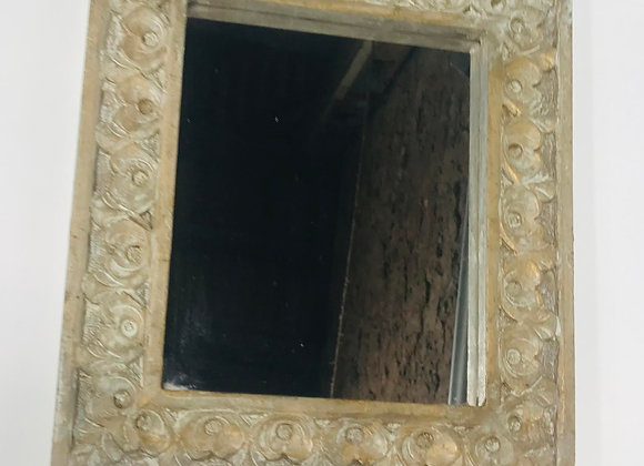 Indian Carved Wood Mirror