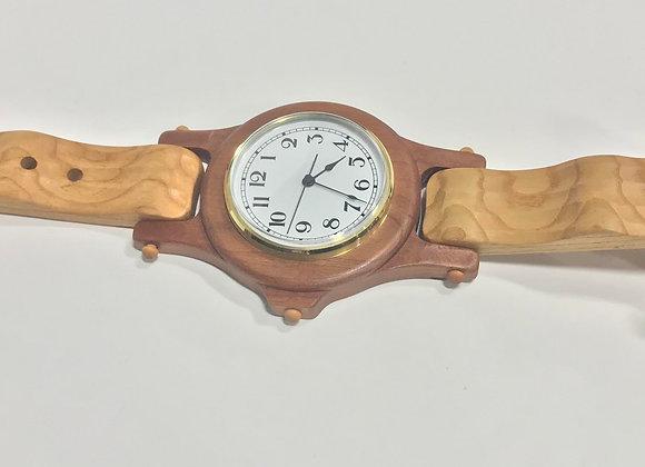 Wooden Wristwatch Clock