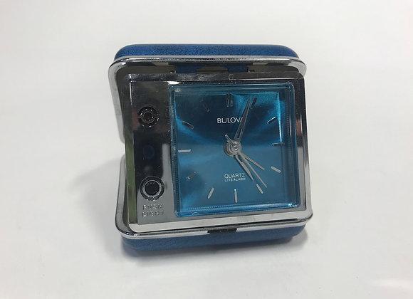Retro Bulova Travel Alarm Clock
