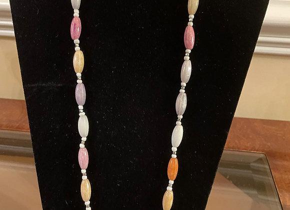 Multi-color Quartz Necklace