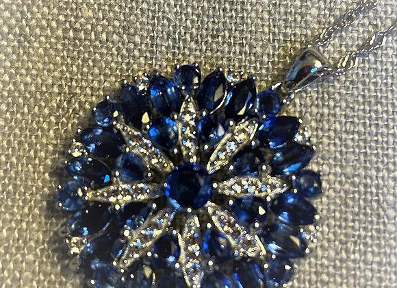 Kyanite an Zircon Stones Necklace