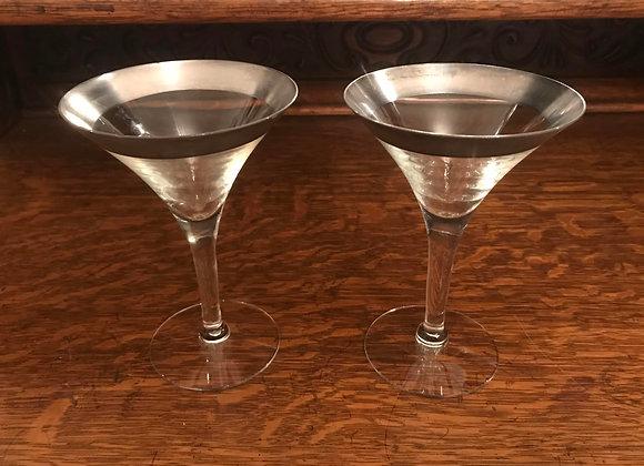 Pair of Dorothy Thorpe Martini Glasses