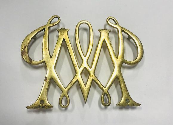 1950 William & Mary Brass Trivet