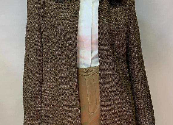 Zip-front Faux Fur Jacket