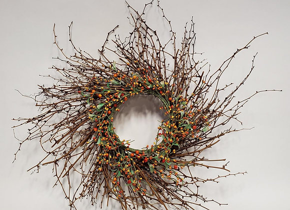 Wreath with Faux Berries