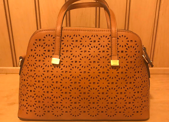 Faux Leather Perforated Handbag by Street Level
