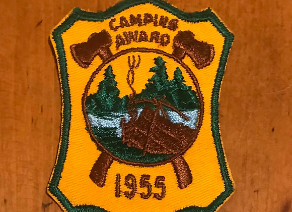 Vintage Boy Scout Patch Camping Award 1955