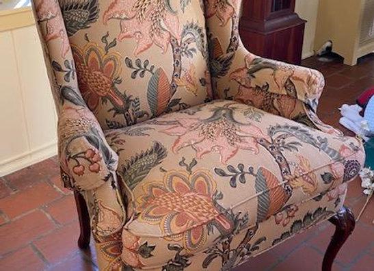 Floral Print Wingchair