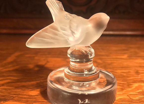Vintage Lalique Frosted Sparrow