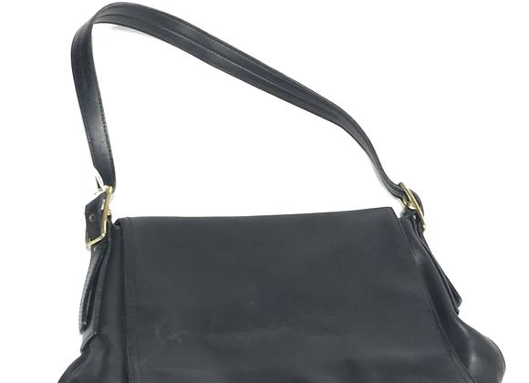 Coach Soft Leather Black Front Flap Handbag