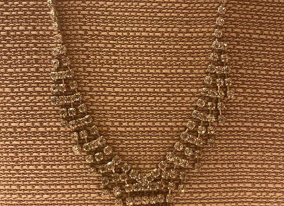 Rhinestone Waterfall Necklace
