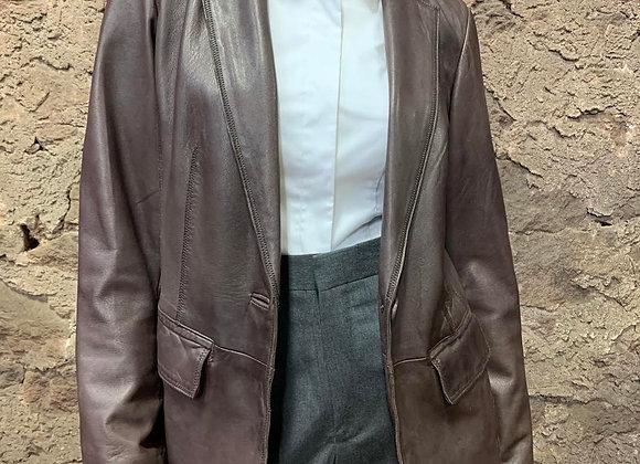 J. Jill Brown Leather Blazer