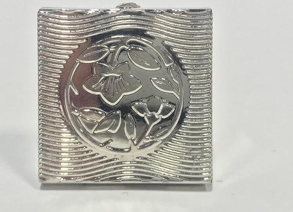 Metal Floral Pill Box