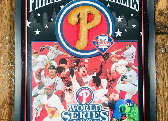 Phillies 2008 World Series Poster with Soft Pretzel