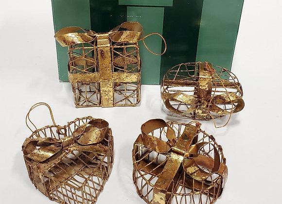 4 Brass Ornaments by Bombay Co.