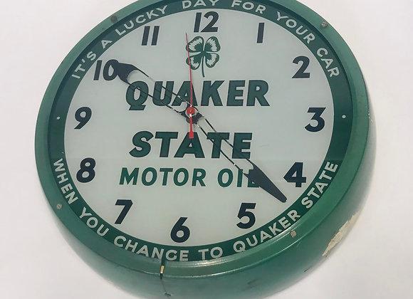 Vintage 1953 Quaker State Motor Oil Clock
